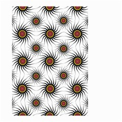 Pearly Pattern Half Tone Background Small Garden Flag (two Sides) by Simbadda