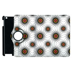Pearly Pattern Half Tone Background Apple Ipad 3/4 Flip 360 Case by Simbadda