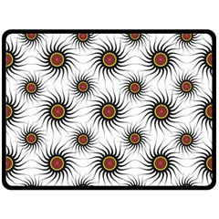 Pearly Pattern Half Tone Background Double Sided Fleece Blanket (large)  by Simbadda