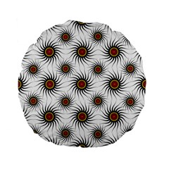 Pearly Pattern Half Tone Background Standard 15  Premium Flano Round Cushions by Simbadda