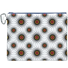 Pearly Pattern Half Tone Background Canvas Cosmetic Bag (xxxl) by Simbadda