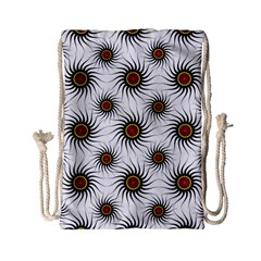 Pearly Pattern Half Tone Background Drawstring Bag (small) by Simbadda