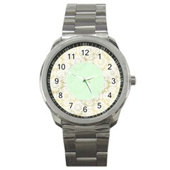 Seamless Abstract Background Pattern Sport Metal Watch by Simbadda