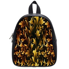 Loral Vintage Pattern Background School Bags (small)  by Simbadda