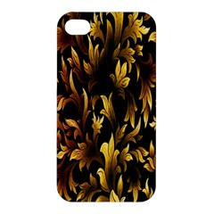 Loral Vintage Pattern Background Apple Iphone 4/4s Premium Hardshell Case by Simbadda