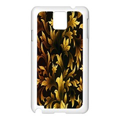 Loral Vintage Pattern Background Samsung Galaxy Note 3 N9005 Case (white) by Simbadda