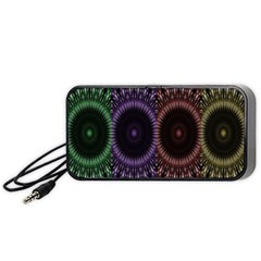 Digital Colored Ornament Computer Graphic Portable Speaker (black) by Simbadda