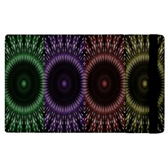 Digital Colored Ornament Computer Graphic Apple Ipad 2 Flip Case by Simbadda