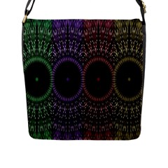 Digital Colored Ornament Computer Graphic Flap Messenger Bag (l)  by Simbadda