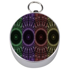 Digital Colored Ornament Computer Graphic Silver Compasses by Simbadda