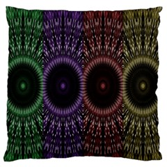 Digital Colored Ornament Computer Graphic Standard Flano Cushion Case (one Side) by Simbadda