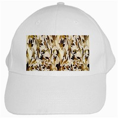 Floral Vintage Pattern Background White Cap by Simbadda