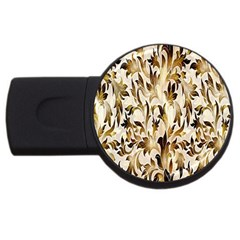 Floral Vintage Pattern Background Usb Flash Drive Round (2 Gb) by Simbadda
