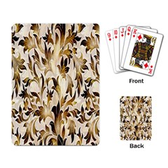 Floral Vintage Pattern Background Playing Card by Simbadda