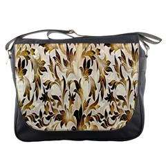 Floral Vintage Pattern Background Messenger Bags by Simbadda