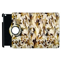 Floral Vintage Pattern Background Apple Ipad 3/4 Flip 360 Case by Simbadda