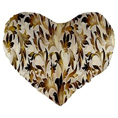 Floral Vintage Pattern Background Large 19  Premium Heart Shape Cushions by Simbadda