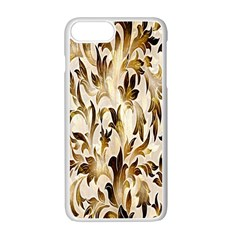 Floral Vintage Pattern Background Apple Iphone 7 Plus White Seamless Case by Simbadda