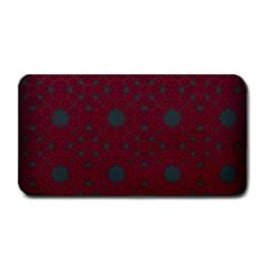 Blue Hot Pink Pattern With Woody Circles Medium Bar Mats by Simbadda