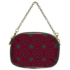 Blue Hot Pink Pattern With Woody Circles Chain Purses (one Side)  by Simbadda
