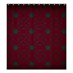 Blue Hot Pink Pattern With Woody Circles Shower Curtain 66  X 72  (large)  by Simbadda