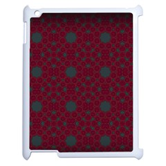 Blue Hot Pink Pattern With Woody Circles Apple Ipad 2 Case (white) by Simbadda