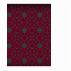 Blue Hot Pink Pattern With Woody Circles Large Garden Flag (two Sides) by Simbadda