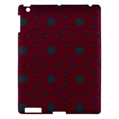 Blue Hot Pink Pattern With Woody Circles Apple Ipad 3/4 Hardshell Case by Simbadda