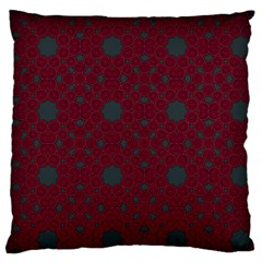 Blue Hot Pink Pattern With Woody Circles Large Cushion Case (two Sides) by Simbadda