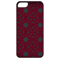Blue Hot Pink Pattern With Woody Circles Apple Iphone 5 Classic Hardshell Case by Simbadda