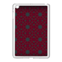 Blue Hot Pink Pattern With Woody Circles Apple Ipad Mini Case (white) by Simbadda