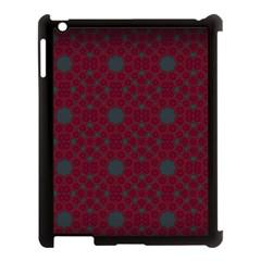 Blue Hot Pink Pattern With Woody Circles Apple Ipad 3/4 Case (black) by Simbadda
