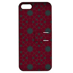 Blue Hot Pink Pattern With Woody Circles Apple Iphone 5 Hardshell Case With Stand by Simbadda