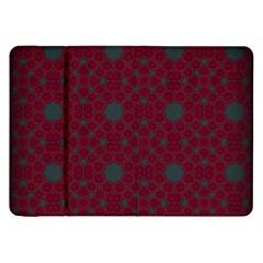 Blue Hot Pink Pattern With Woody Circles Samsung Galaxy Tab 8 9  P7300 Flip Case by Simbadda