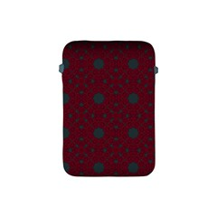 Blue Hot Pink Pattern With Woody Circles Apple Ipad Mini Protective Soft Cases by Simbadda