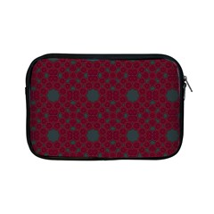 Blue Hot Pink Pattern With Woody Circles Apple Ipad Mini Zipper Cases by Simbadda