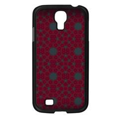 Blue Hot Pink Pattern With Woody Circles Samsung Galaxy S4 I9500/ I9505 Case (black) by Simbadda