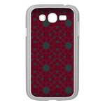 Blue Hot Pink Pattern With Woody Circles Samsung Galaxy Grand DUOS I9082 Case (White) Front