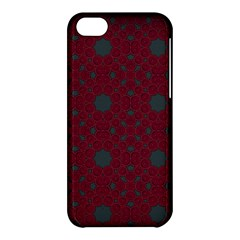 Blue Hot Pink Pattern With Woody Circles Apple Iphone 5c Hardshell Case by Simbadda