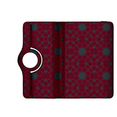 Blue Hot Pink Pattern With Woody Circles Kindle Fire Hdx 8 9  Flip 360 Case by Simbadda