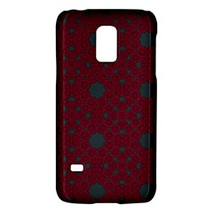 Blue Hot Pink Pattern With Woody Circles Galaxy S5 Mini by Simbadda