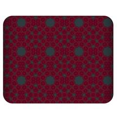 Blue Hot Pink Pattern With Woody Circles Double Sided Flano Blanket (medium)  by Simbadda