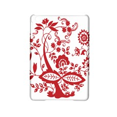 Red Vintage Floral Flowers Decorative Pattern Clipart Ipad Mini 2 Hardshell Cases by Simbadda