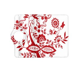 Red Vintage Floral Flowers Decorative Pattern Clipart Kindle Fire Hd (2013) Flip 360 Case by Simbadda