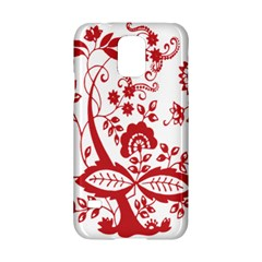 Red Vintage Floral Flowers Decorative Pattern Clipart Samsung Galaxy S5 Hardshell Case  by Simbadda