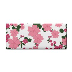 Vintage Floral Wallpaper Background In Shades Of Pink Cosmetic Storage Cases by Simbadda