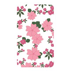 Vintage Floral Wallpaper Background In Shades Of Pink Memory Card Reader by Simbadda