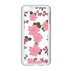 Vintage Floral Wallpaper Background In Shades Of Pink Apple Ipod Touch 5 Case (white) by Simbadda