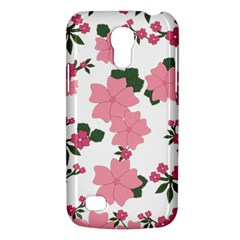 Vintage Floral Wallpaper Background In Shades Of Pink Galaxy S4 Mini by Simbadda