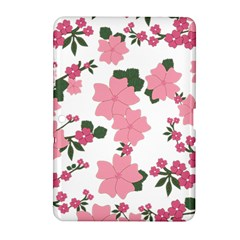 Vintage Floral Wallpaper Background In Shades Of Pink Samsung Galaxy Tab 2 (10 1 ) P5100 Hardshell Case  by Simbadda